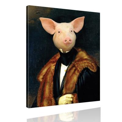 Kunstdruck - Klassisches Gemälde mit Twist - Herzog von Schwein