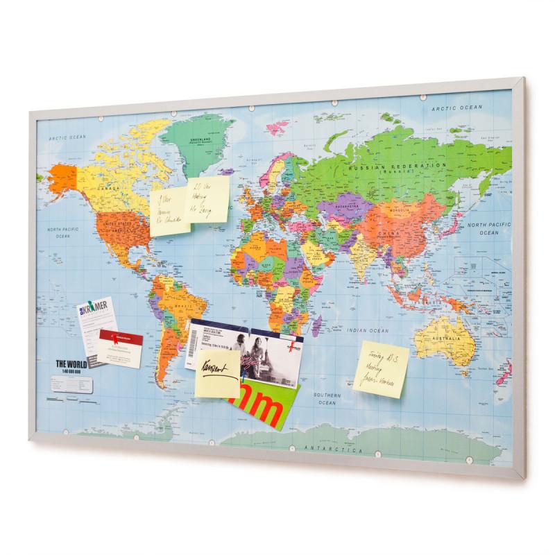 Pinnwand Weltkartenpinnwand Mit Fähnchen Geheimshop De