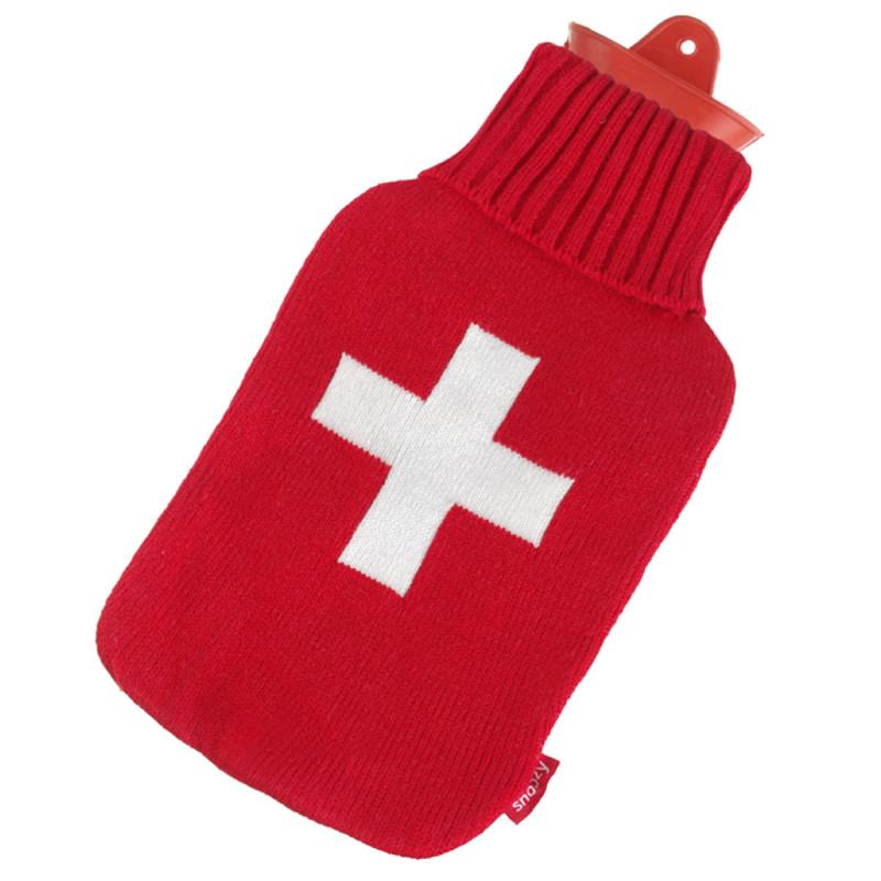 Wärmflasche mit schweizer Kreuz
