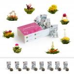 Teeblumen - Erblühtee Geschenkset mit 8 Blumen - Geheimshop.de