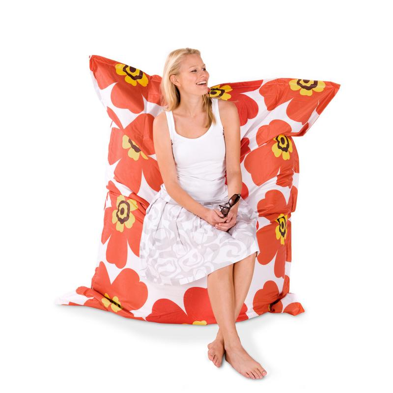 Sitzsack Floralia orange