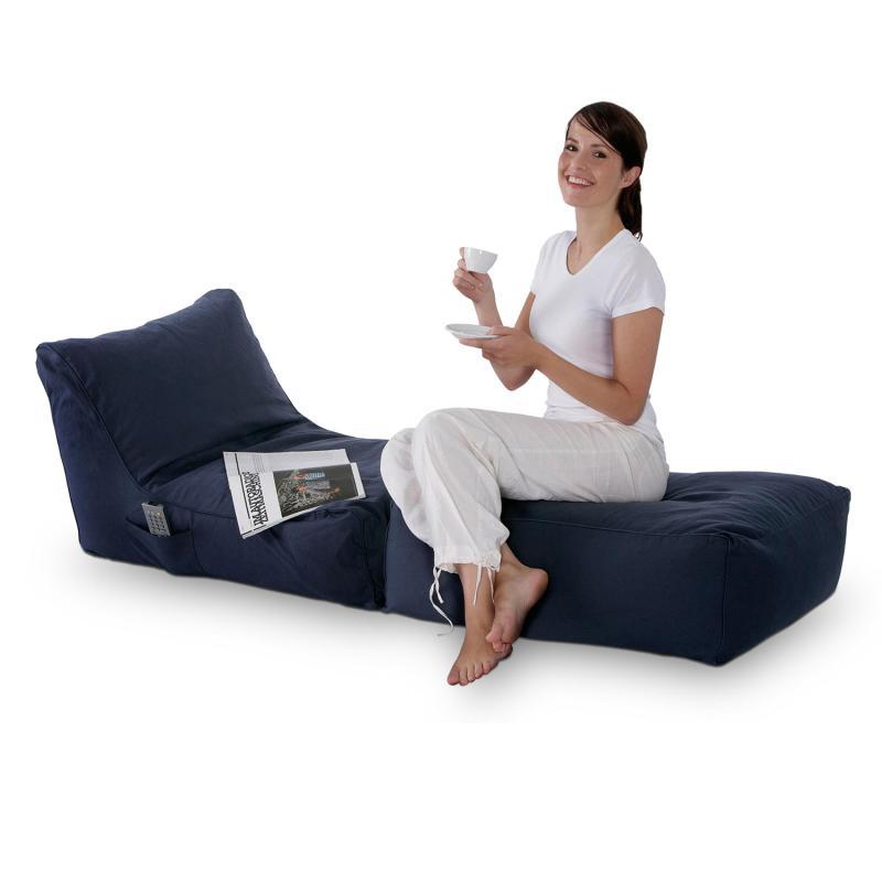 Sitzsack Lounge Folder blau