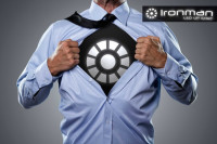 Ironman Light-Up Reactor T-Shirt mit LED Panel