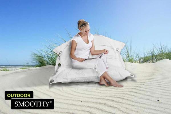 Smoothy Sitzsack Outdoor Supreme in Weiß