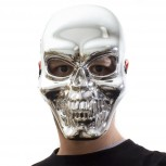 Skelett Maske Totenkopf Maske - Skelettmaske Gold & Silber