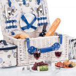 Picknickkorb für 4 Personen mit Vollausstattung + Picknickdecke