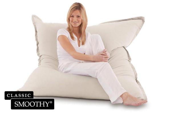 Smoothy Sitzsack - Sitzkissen Classic Cotton - Creme-Beige