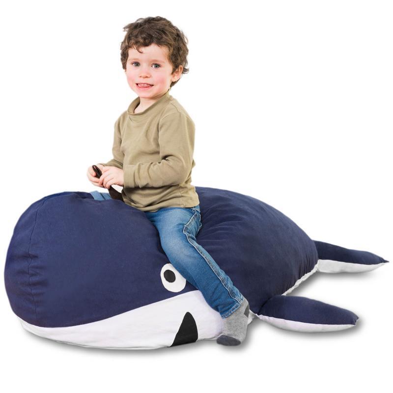 Walfisch Kindersitzsack - Wal Kinder Sitzsack von Smoothy
