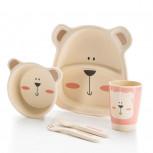 Kindergeschirr aus Bambus - Bambusgeschirr für Kinder - Eisbär