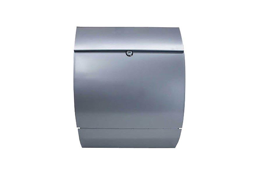 edelstahl briefkasten stahl mailbox mit zeitungsfach kaufen. Black Bedroom Furniture Sets. Home Design Ideas