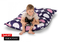 Smoothy Sitzsack Nightflower Jr. in Blau-Pink