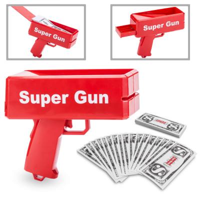 Super Money Gun - The Supreme Money US$ Bank Notes Gun