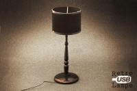 USB Lampe - Schwarze Schreibtischlampe retro  - Geheimshop.de