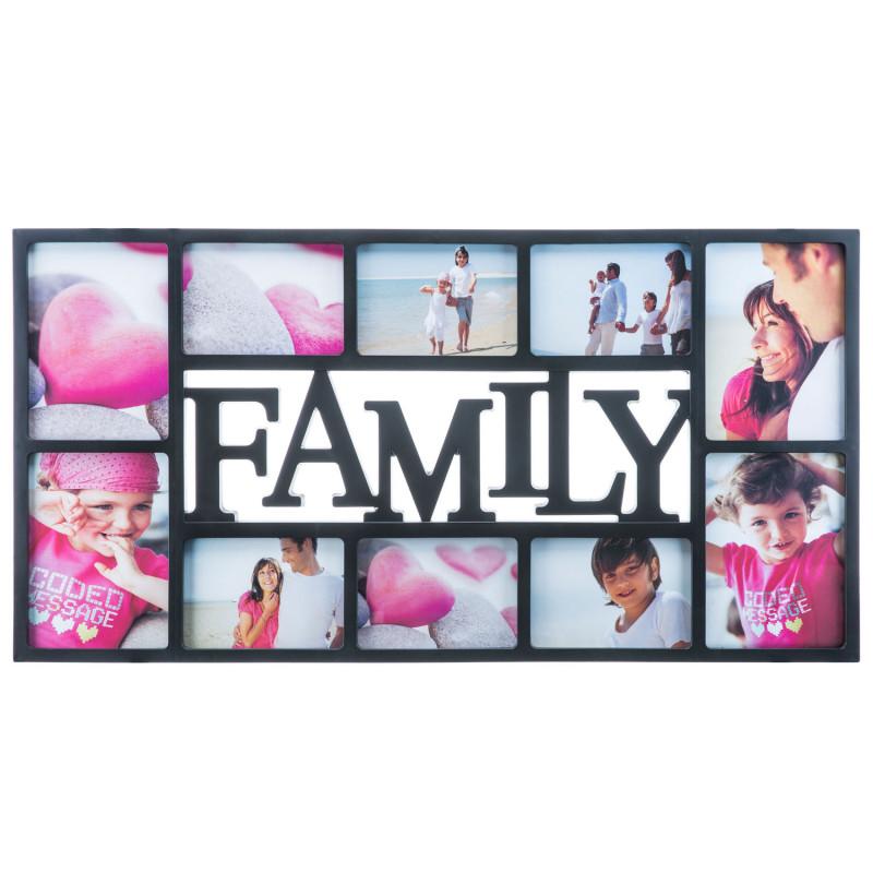 Großer Bilderrahmen Family schwarz