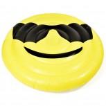 Aufblasbare Matratze Smile Luftmatratze Luftbett 150x150cm