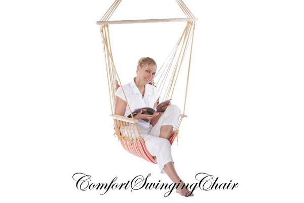 Hängesessel Hängestuhl aus Baumwolle in Rot