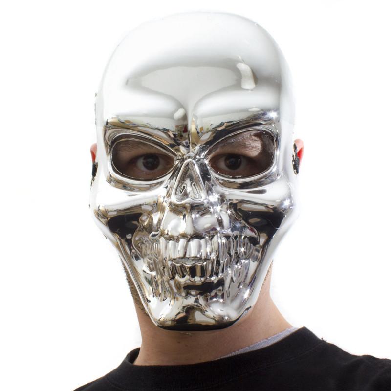 Skelettmaske Silber