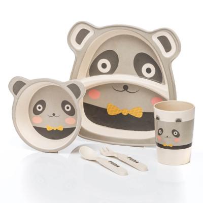 Kindergeschirr - Praktisches Kindergeschirr-Set - Panda