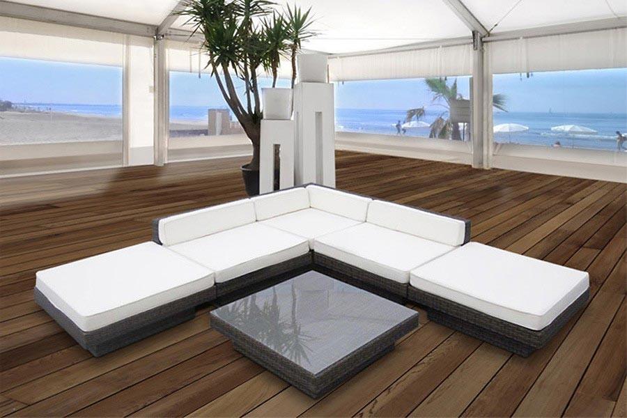 Rattanmöbel outdoor günstig  Lounge Sofa Sitzgruppe aus Polyrattan » günstig kaufen