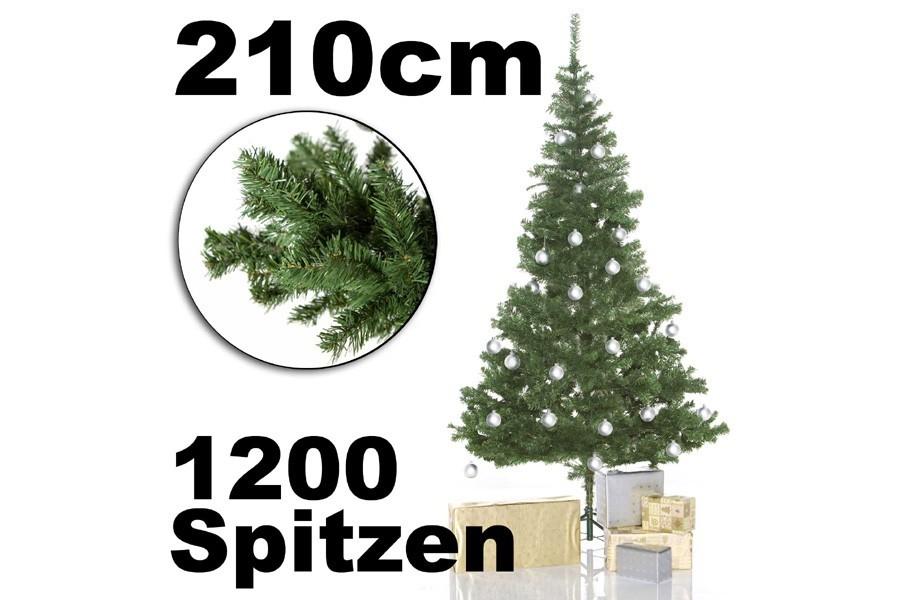 k nstlicher weihnachtsbaum tannenbaum 210 cm g nstig kaufen. Black Bedroom Furniture Sets. Home Design Ideas