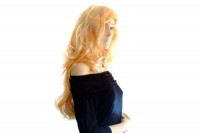 Blonde Blondinen Perücke  ca. 70cm Länge