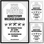Posterrahmen - Wechselrahmen für Poster - Schwarz