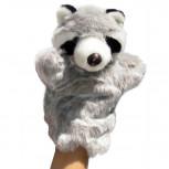 Handpuppe - Handspielpuppe aus Plüsch - Waschbär