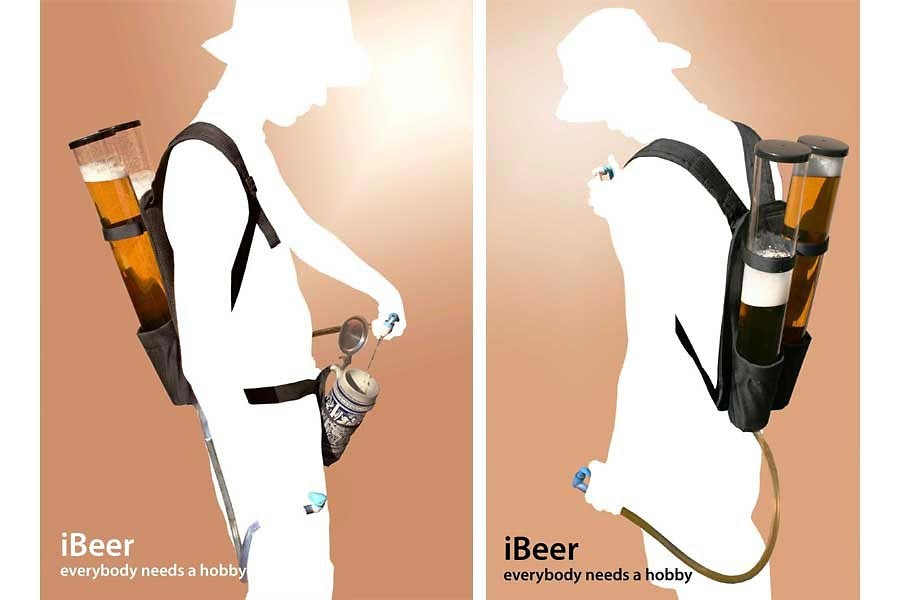Bierrucksack Duo Getränkerucksack mit 2x3 Liter » 24h Versand