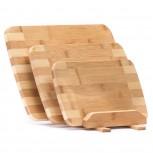 Bambus Schneidebretter 3er Set von Dimono, antibakteriell