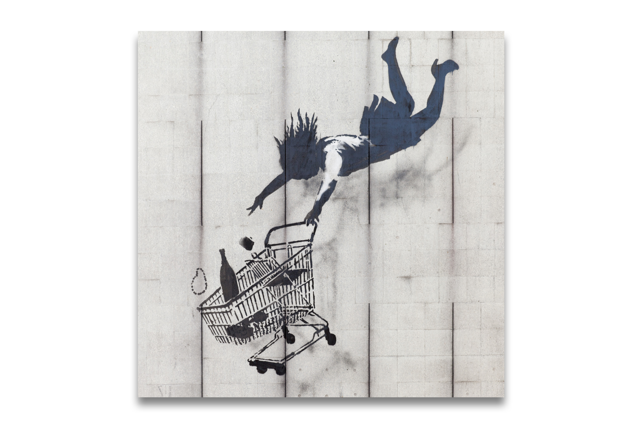 banksy kunstdruck auf leinwand till you drop bild. Black Bedroom Furniture Sets. Home Design Ideas