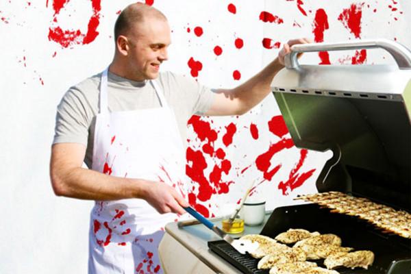 Grillschürze Blutbad Blut Küchenschürze Butchers Apron