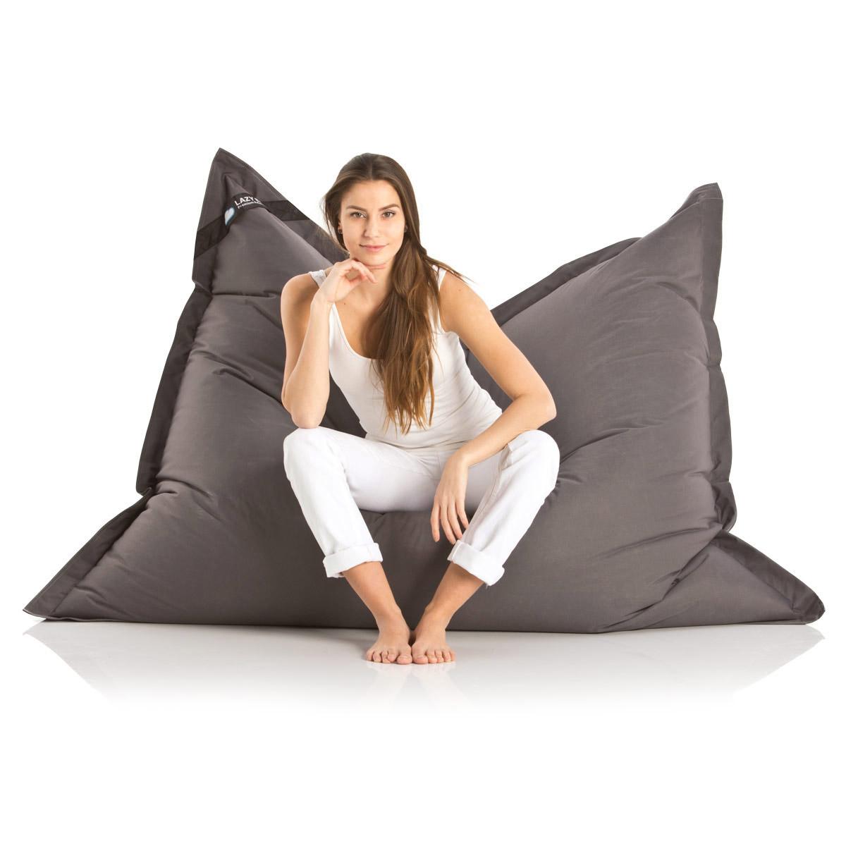 lazybag sitzsack wasserfestes xxl sitzkissen. Black Bedroom Furniture Sets. Home Design Ideas