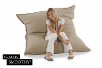 Smoothy Sitzsack Classic Cotton in Steingrau