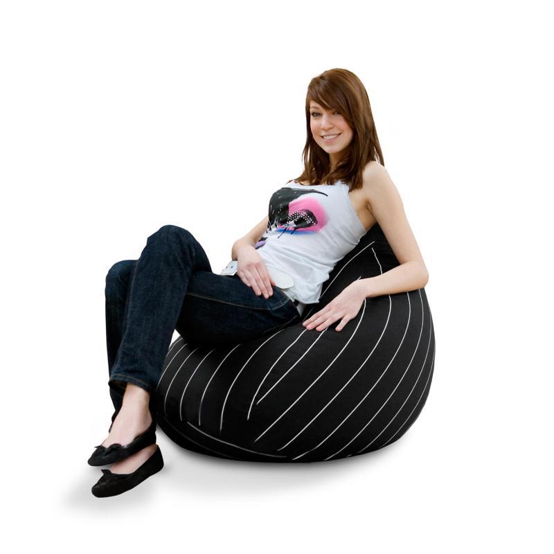 Sitzsack Junior Eggshell Stripes
