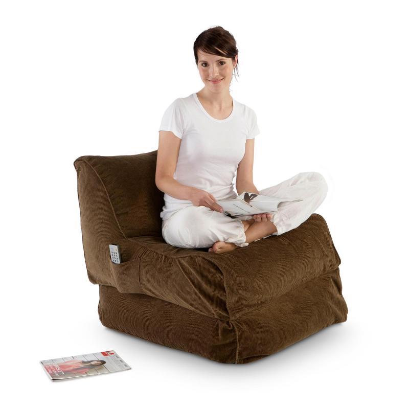 Sitzsack Lounge Folder cord braun