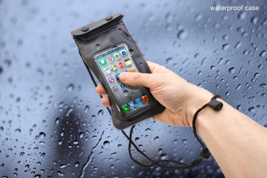 Wasserfeste Schutzhülle für Smartphone Kopfhörer